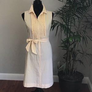 J crew  cotton button down dress